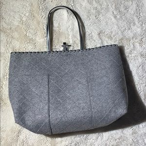 NWT grey Tory Burch tote